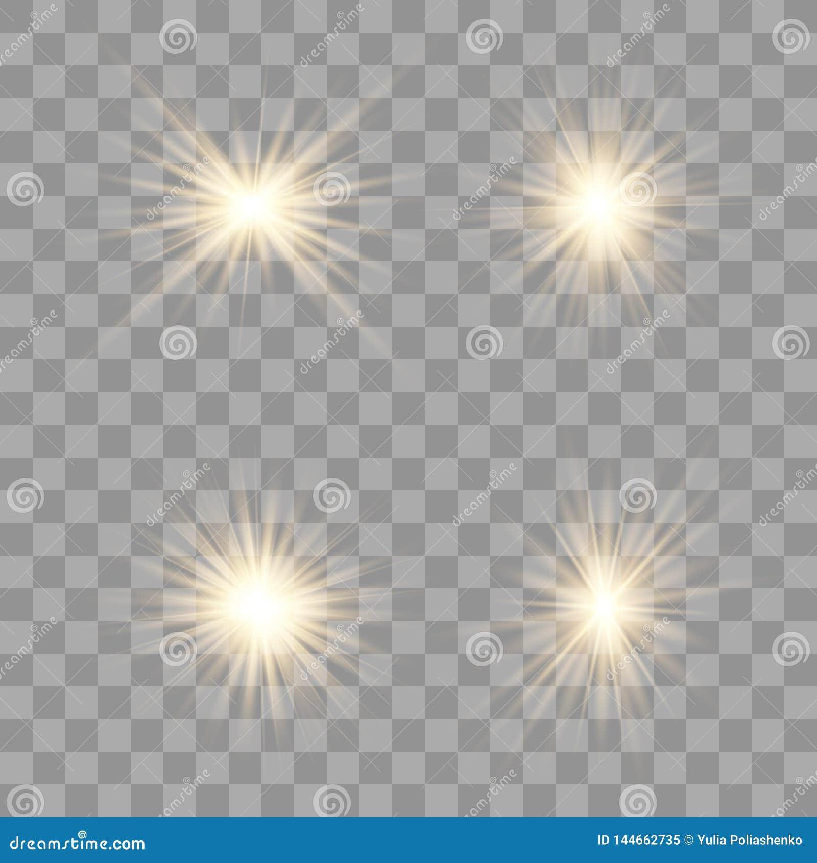 O ouro incandesce efeito da luz