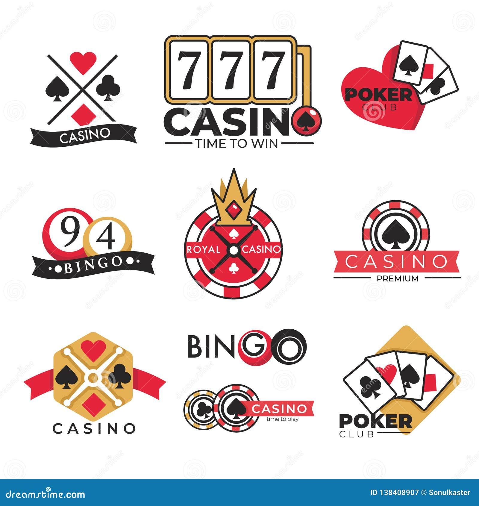 O pôquer de jogo e o bingo do clube do casino isolaram ícones