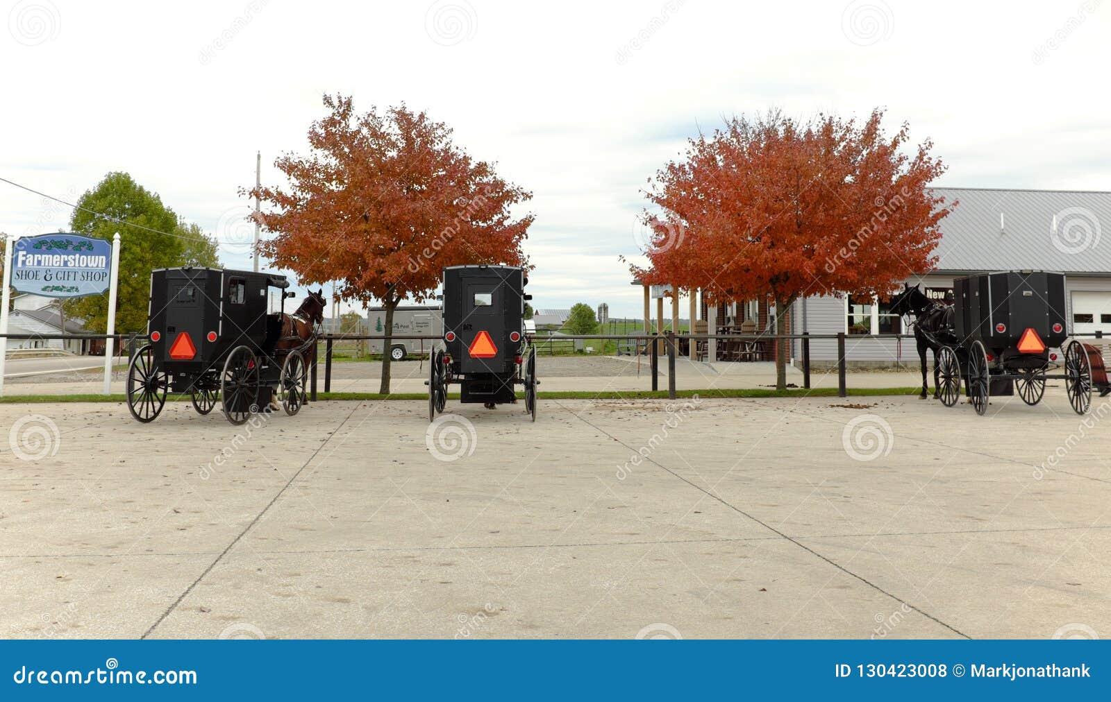 O país Amish é uma mistura do passado e do presente em Ohio