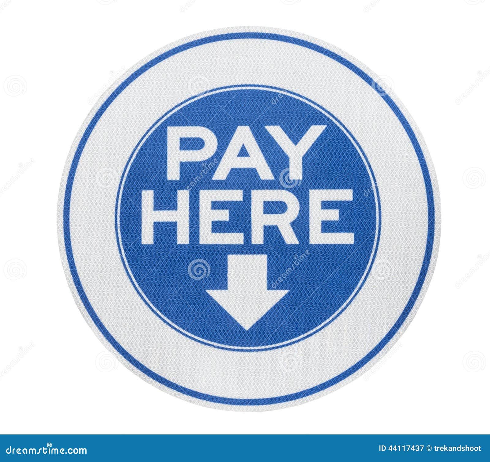 O pagamento aqui assina