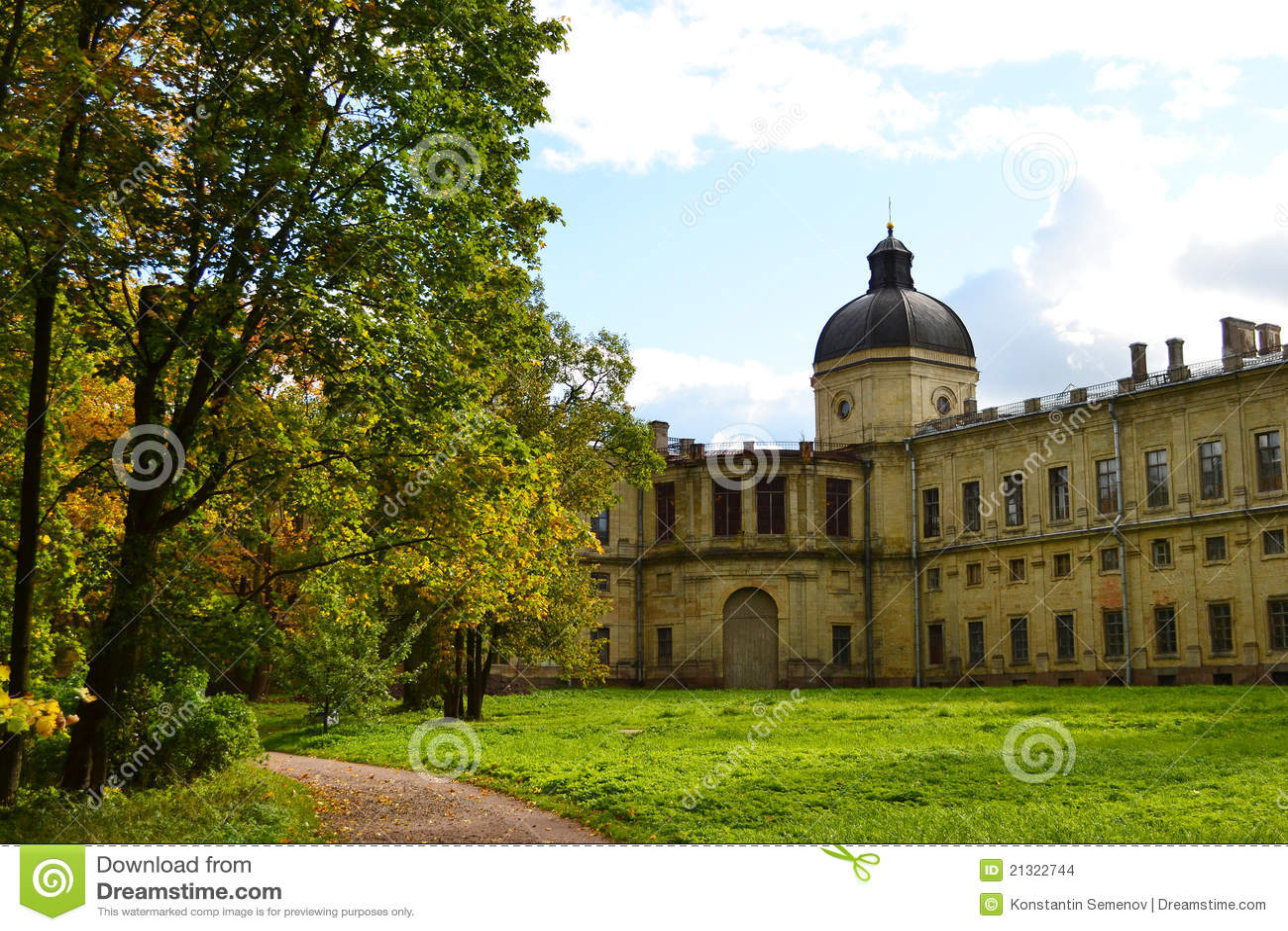 O palácio de Gatchina