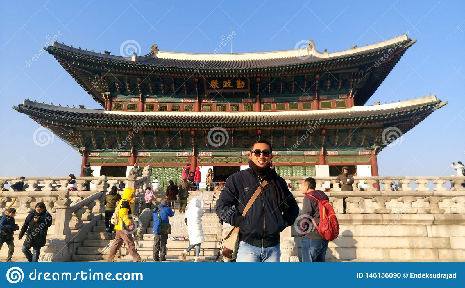 O palácio de Gyeongbokgung dos greates, Seoul Coreia