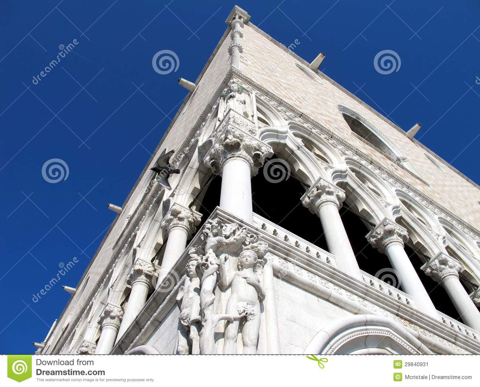 O palácio do Doge de Veneza em Veneza, Italia