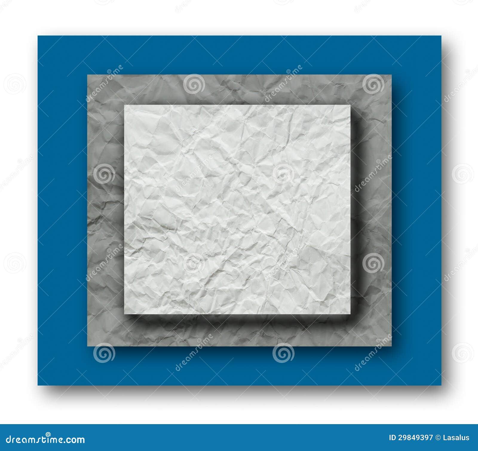 Camada de papel amarrotada