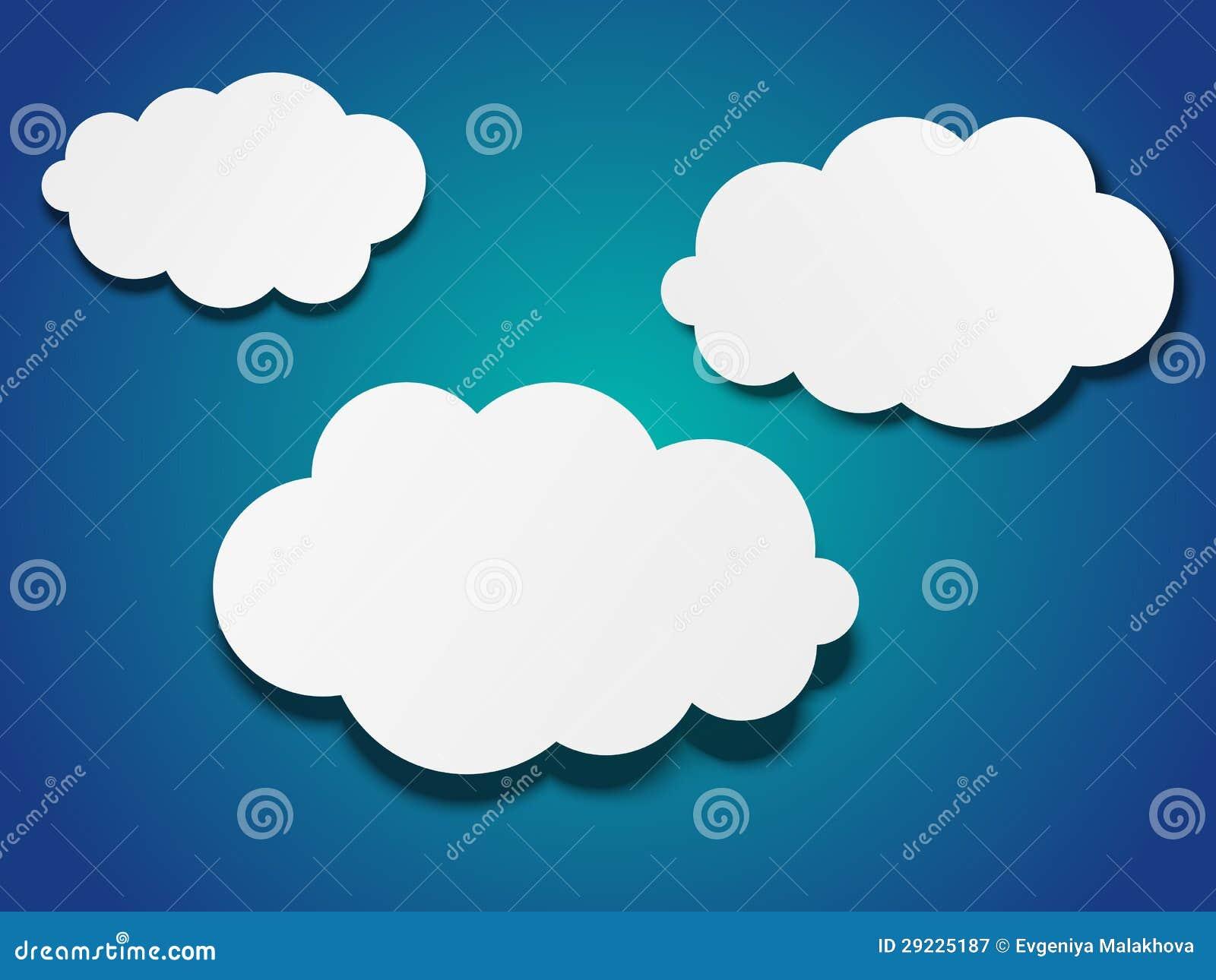 Download O papel nubla-se o fundo ilustração do vetor. Ilustração de papel - 29225187