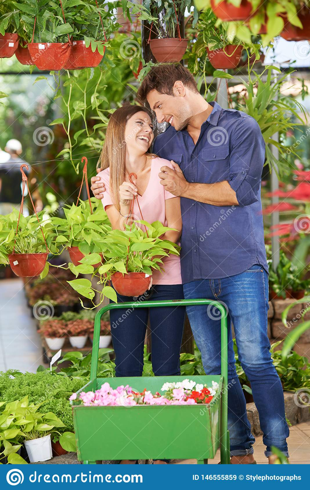 O par compra plantas no Garden Center