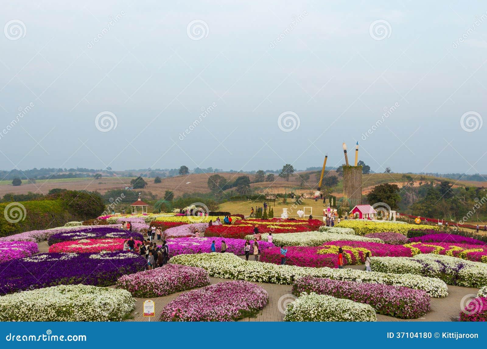 O parque da flora da opinião da paisagem