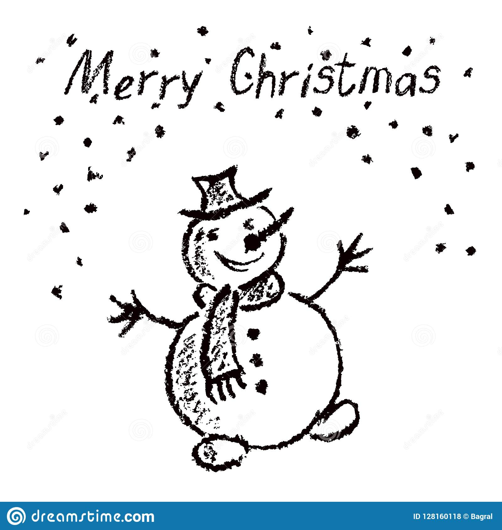 O Pastel Gosta Do Boneco De Neve Engracado Do Feliz Natal Do