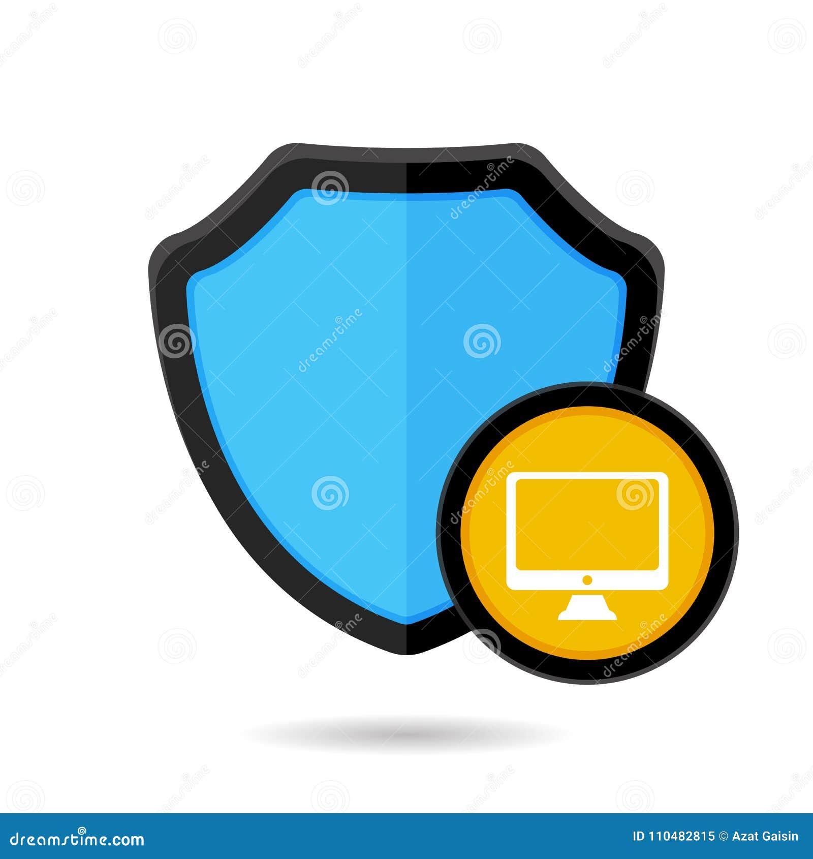 O PC do guarda-fogo do computador protege o ícone do protetor da segurança da proteção