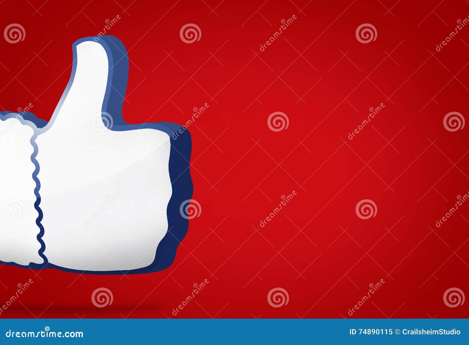 O polegar grande como o ícone 3D rende