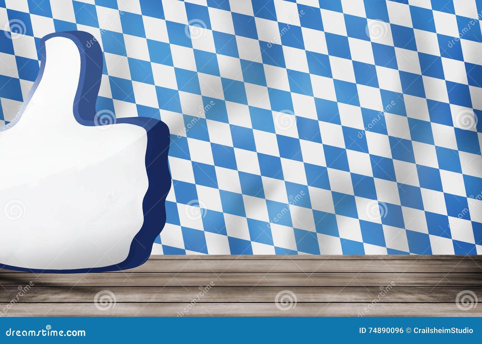 O polegar grande da bandeira de Baviera como o ícone 3D rende