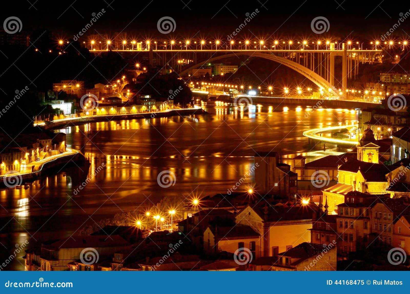 O Porto na noite - Portugal