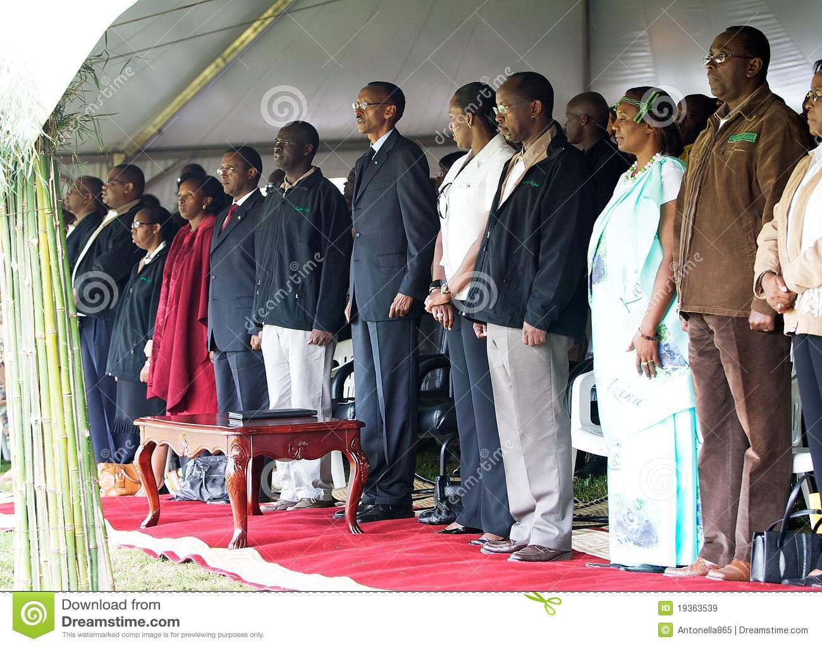 O presidente de Rwanda Paul Kagame