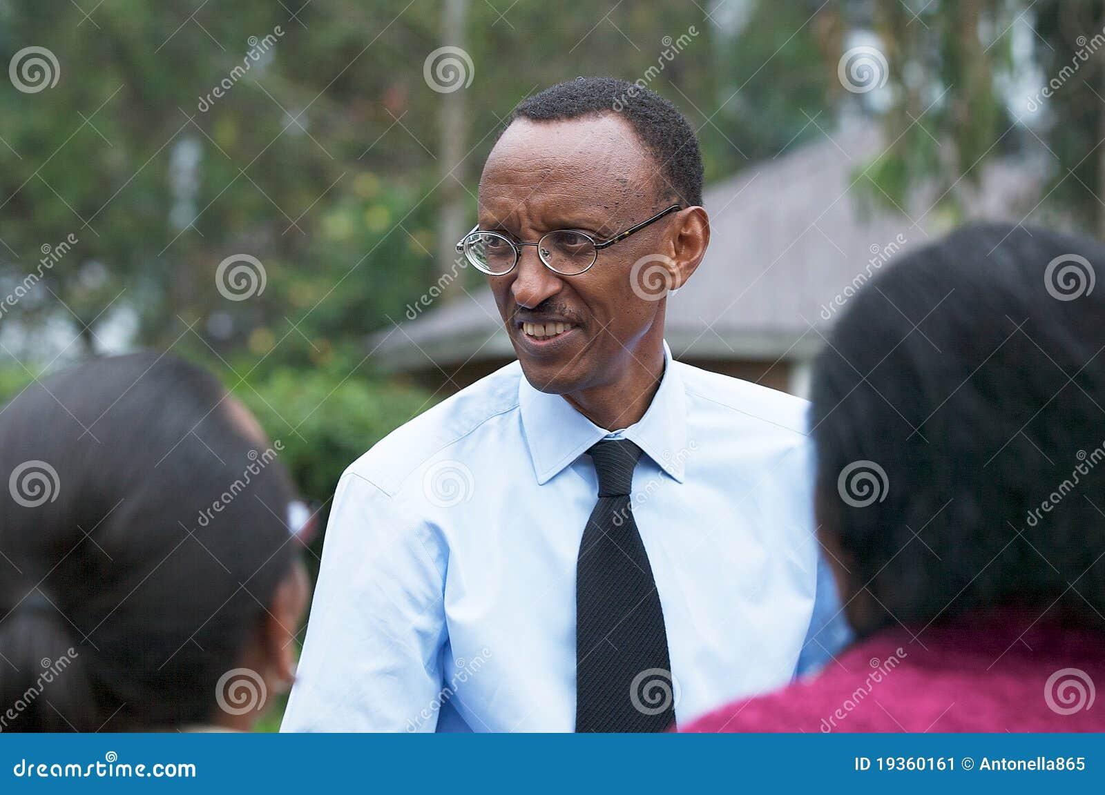 O presidente do Rwanda Paul Kagame
