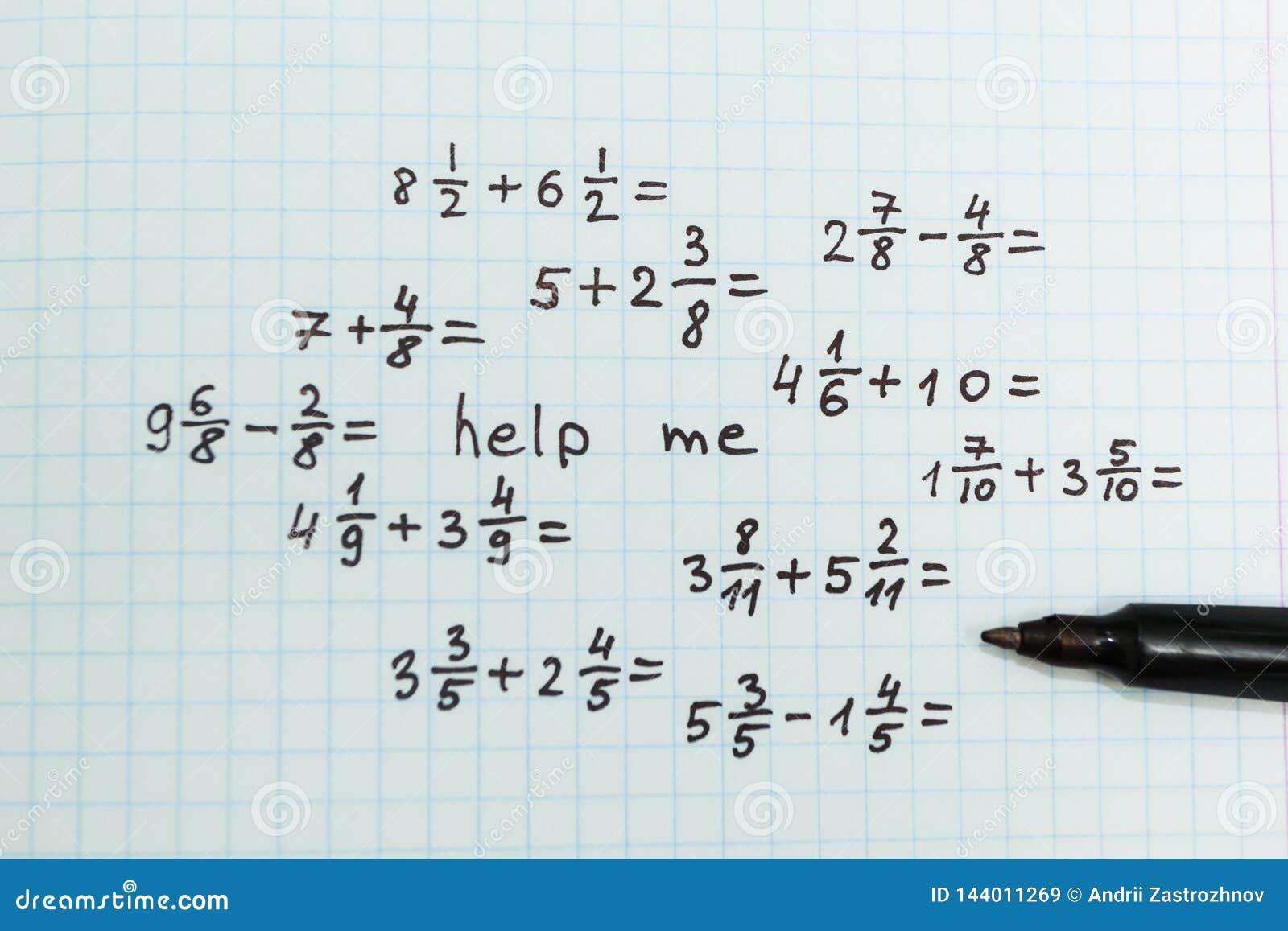 O Problema Na Matematica E Ajudar Me Vista Superior Imagem De Stock Imagem De Vista Ajudar 144011269