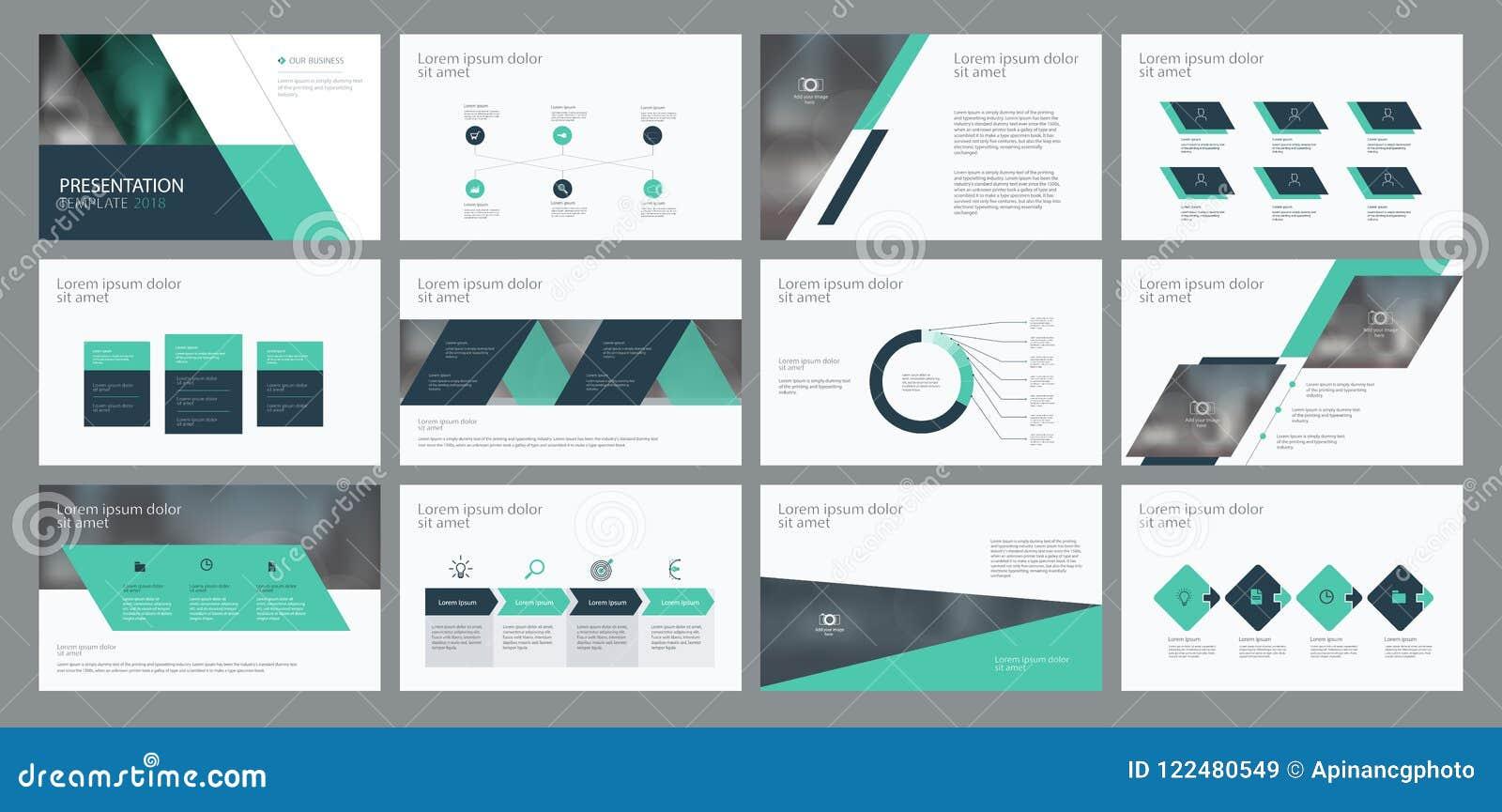 O projeto e a disposição de página do molde da apresentação do negócio projetam para o folheto, o informe anual e o perfil da emp