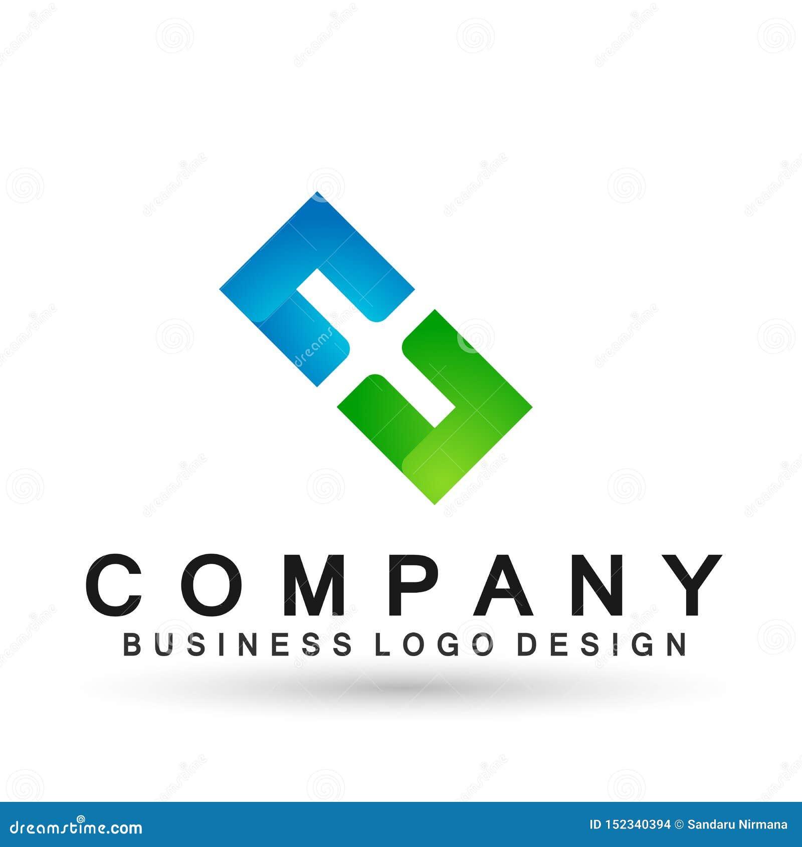 O quadrado abstrato deu forma ao logotipo do neg?cio, uni?o em incorporado investe o projeto do logotipo do neg?cio Investimento