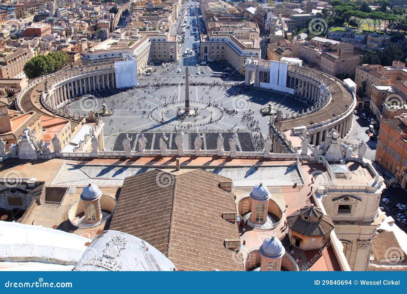 Praça San Pietro do telhado, Roma, Italia