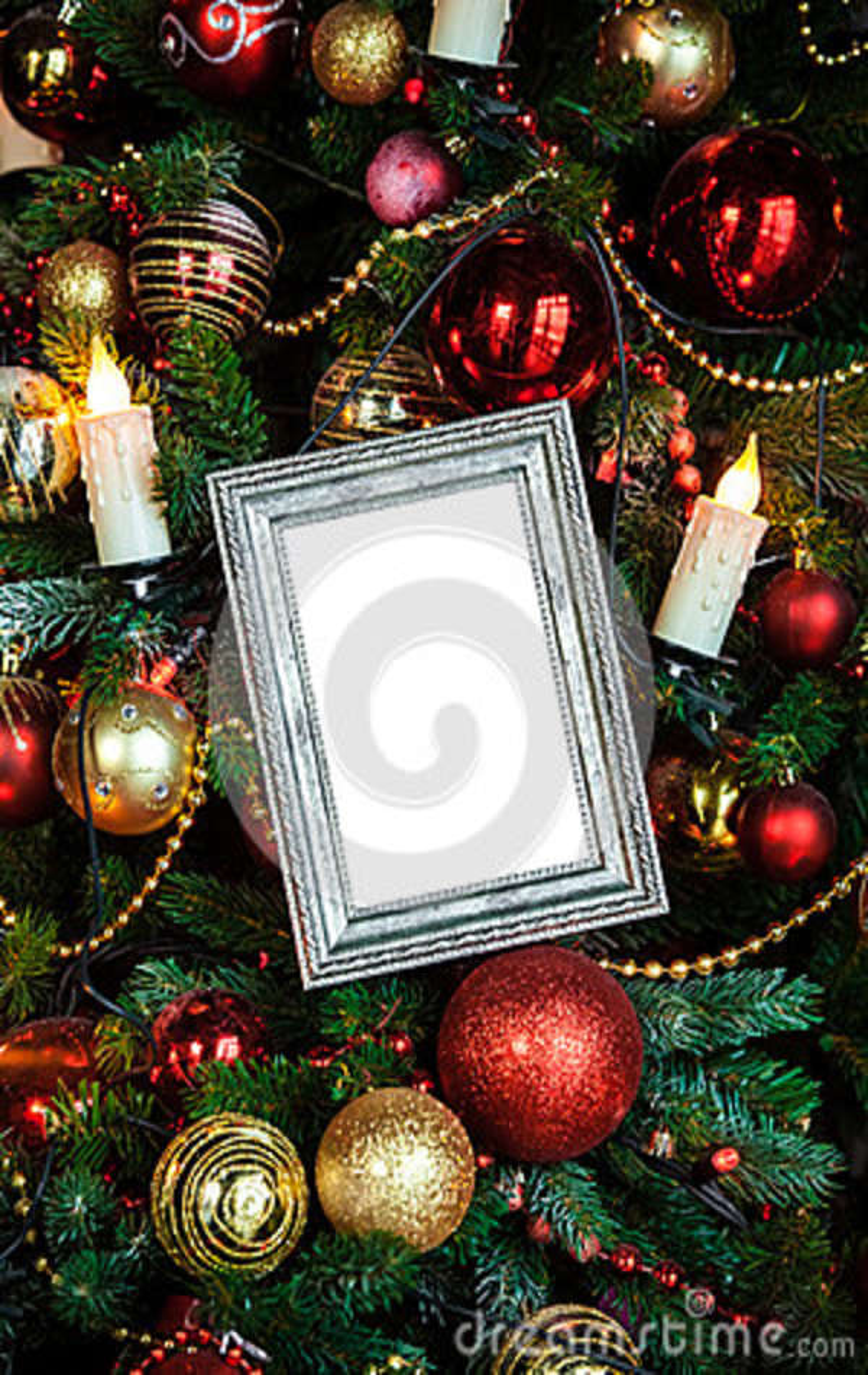O quadro da foto no Natal decorou o fundo