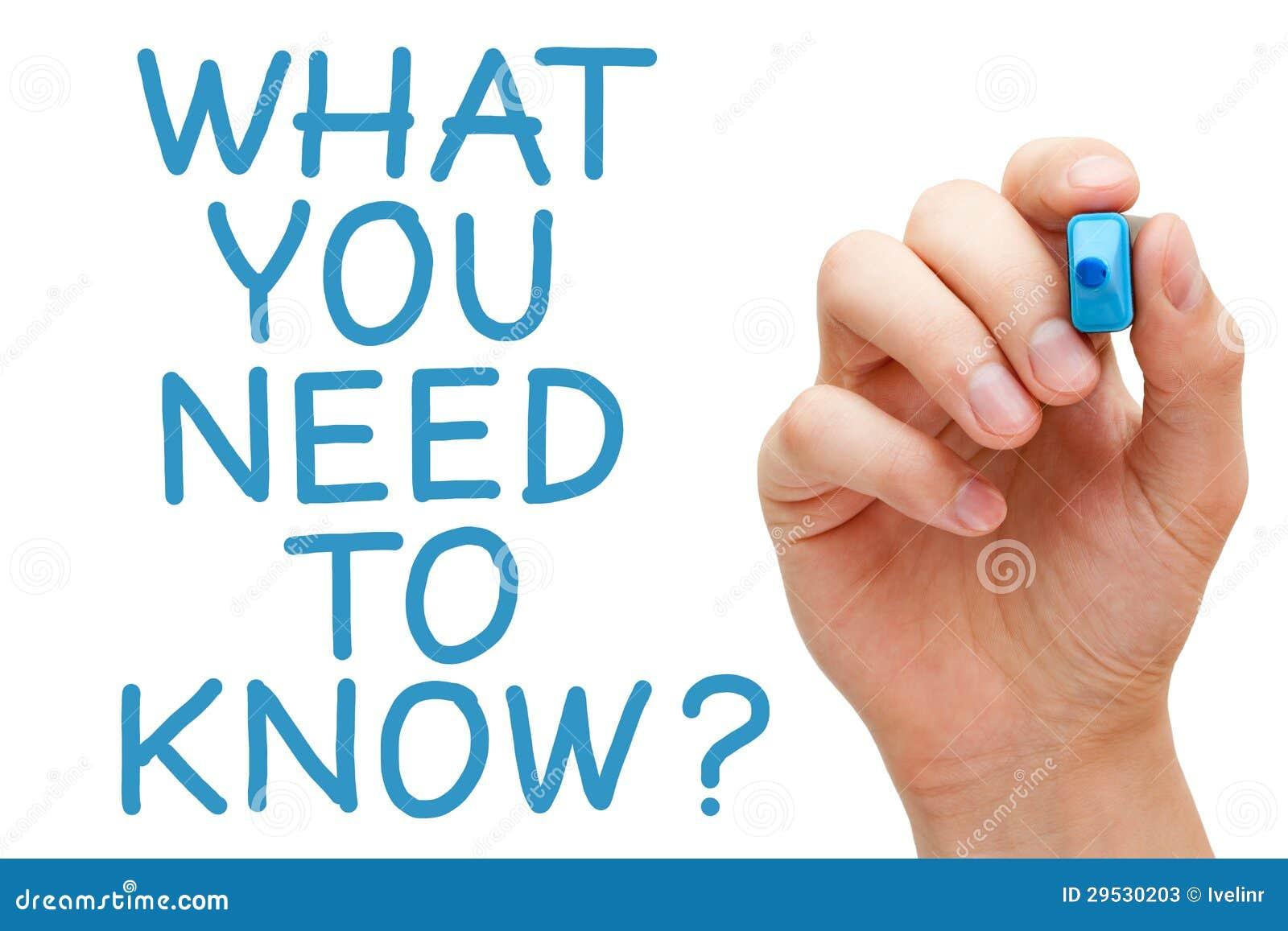 O que você precisa de saber