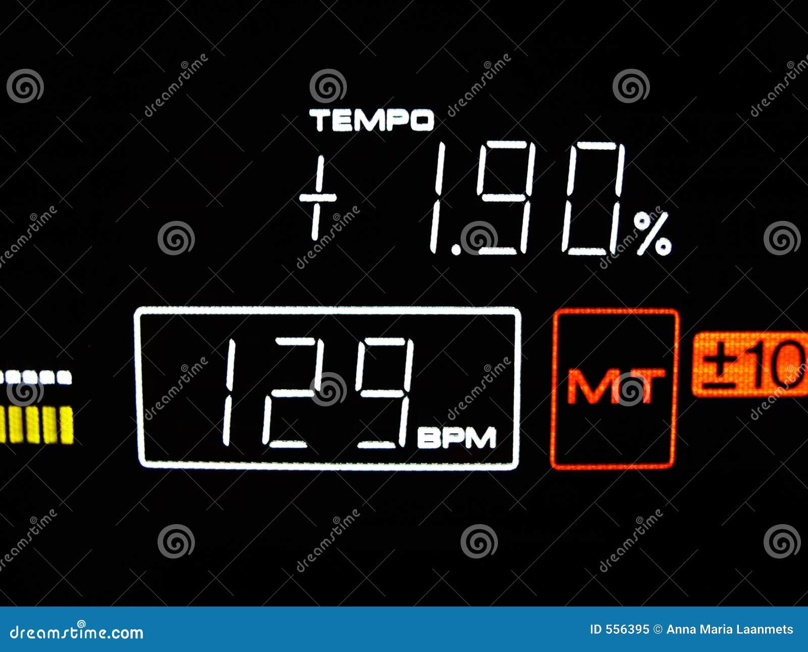 O ritmo é 129 BPM