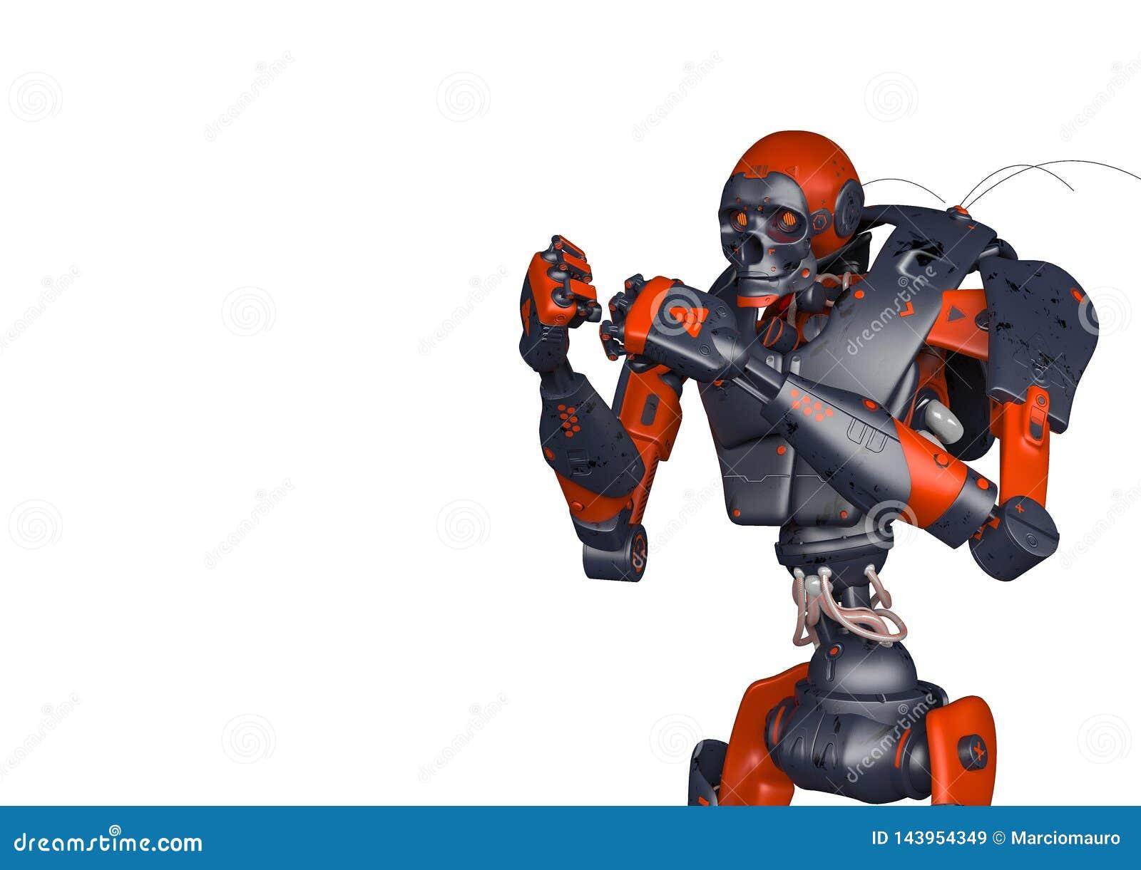 O robô apocalíptico quer lutar