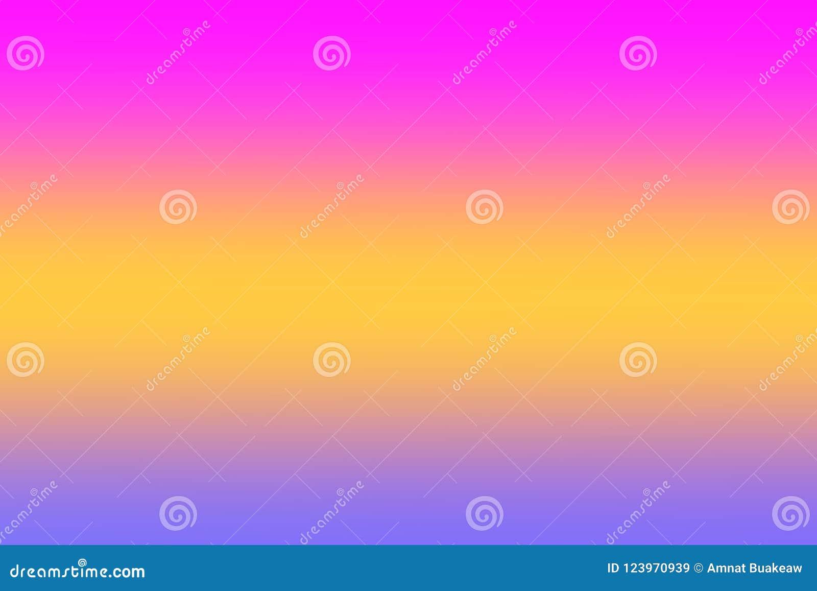 O rosa colorido do inclinação das luzes borrou a máscara colorida do papel de parede macio, doce da cor, cores do arco-íris que i