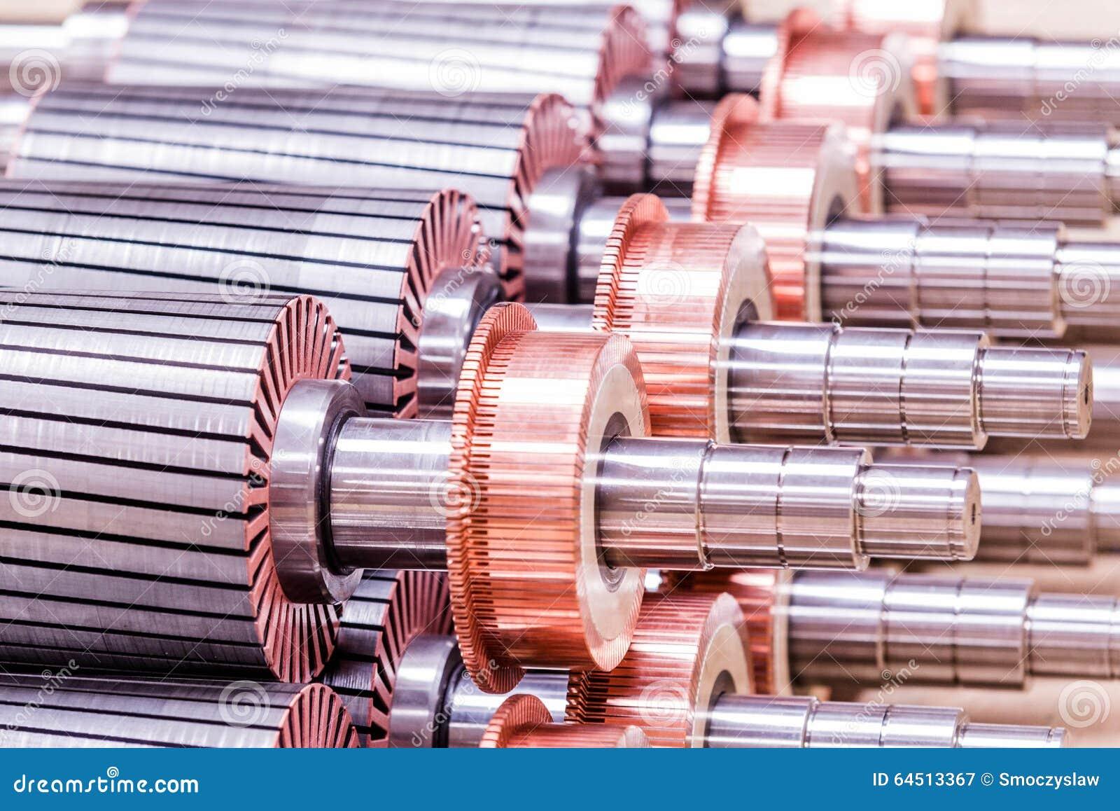 O rotor do motor bonde do estoque