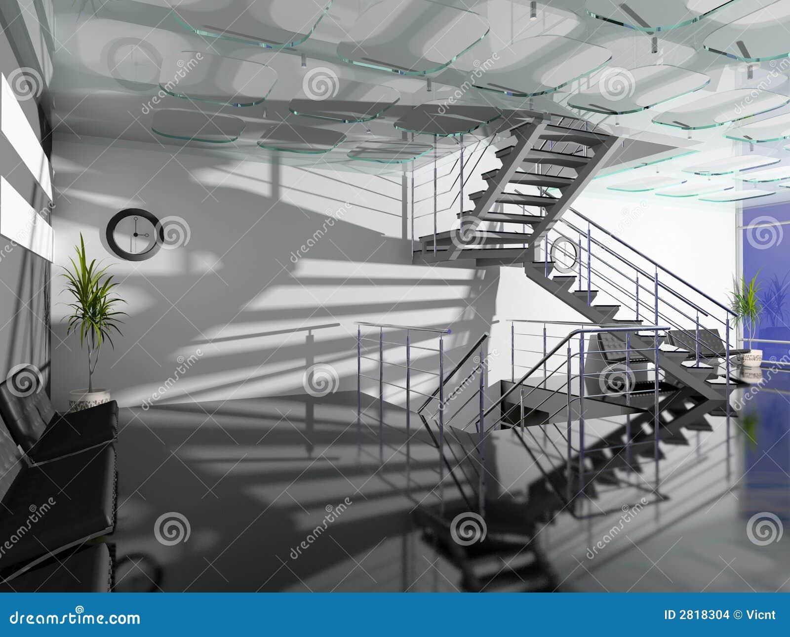 O salão moderno do escritório