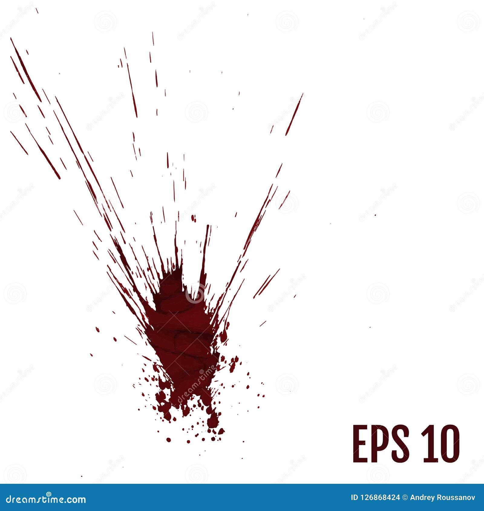 O sangue realístico chapinha, líquido do respingo, tinta da mancha, ponto e bl