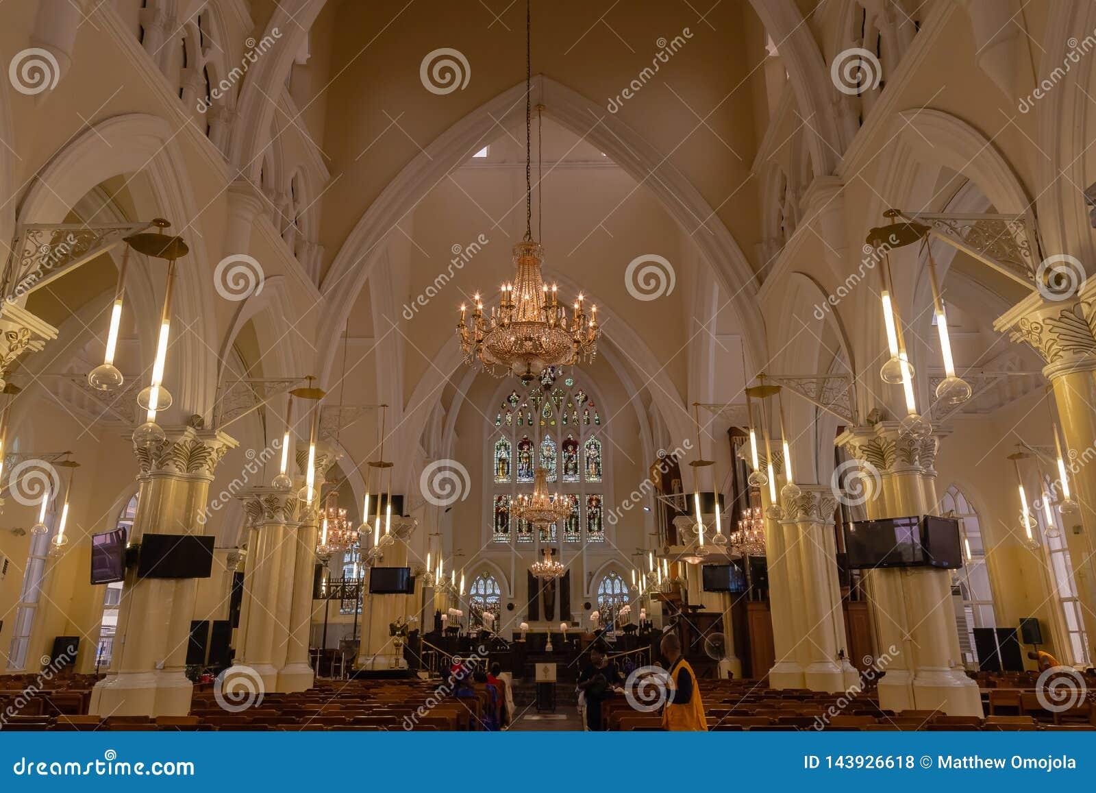 O santuário na igreja da catedral de Cristo Lagos