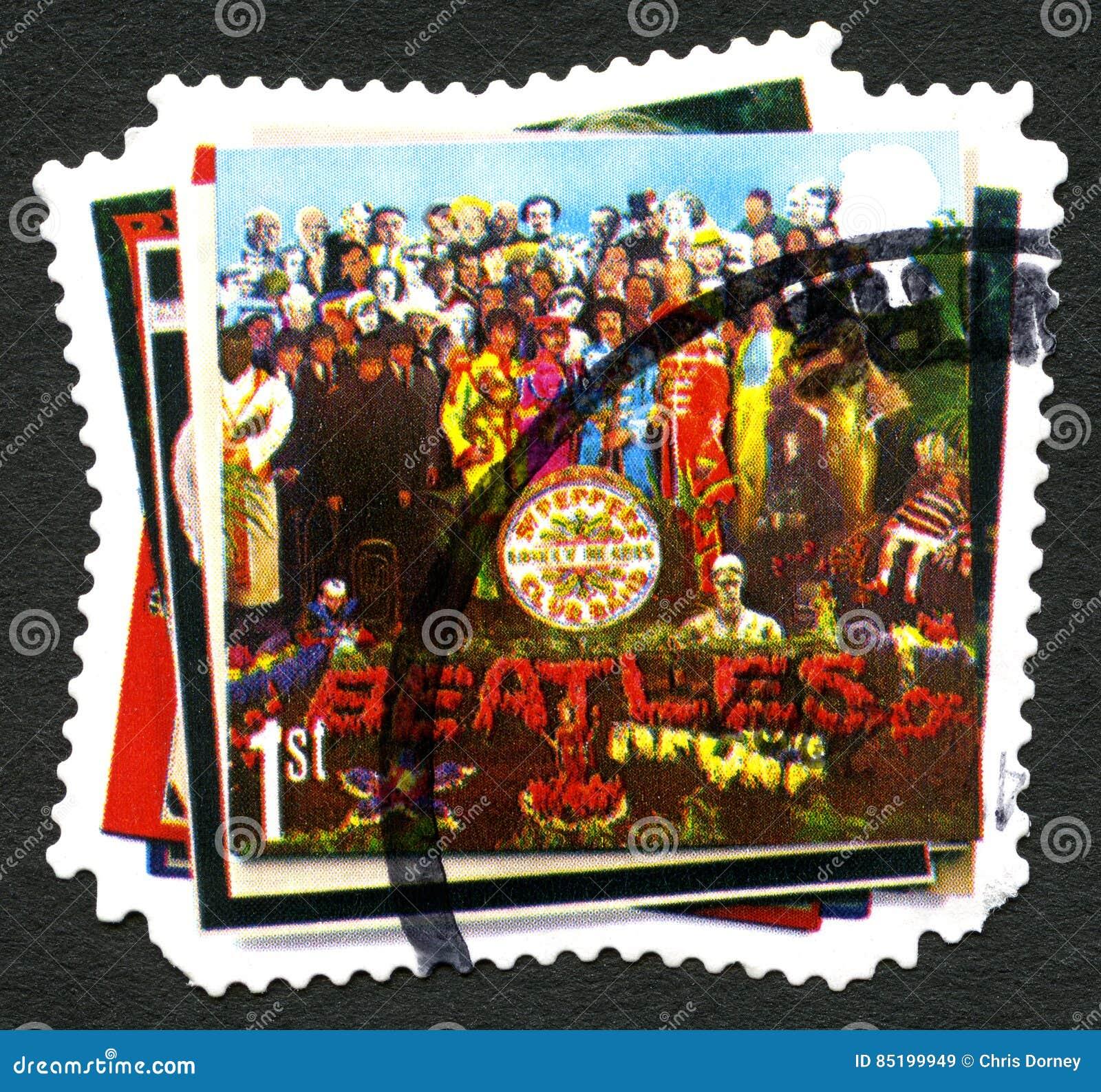 O selo postal de Beatles Reino Unido