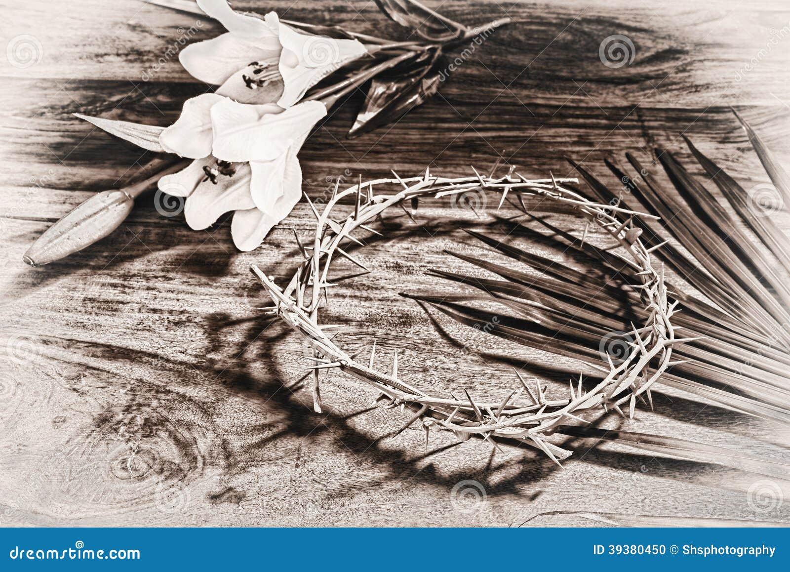 O Sepia tonificou ícones da Páscoa
