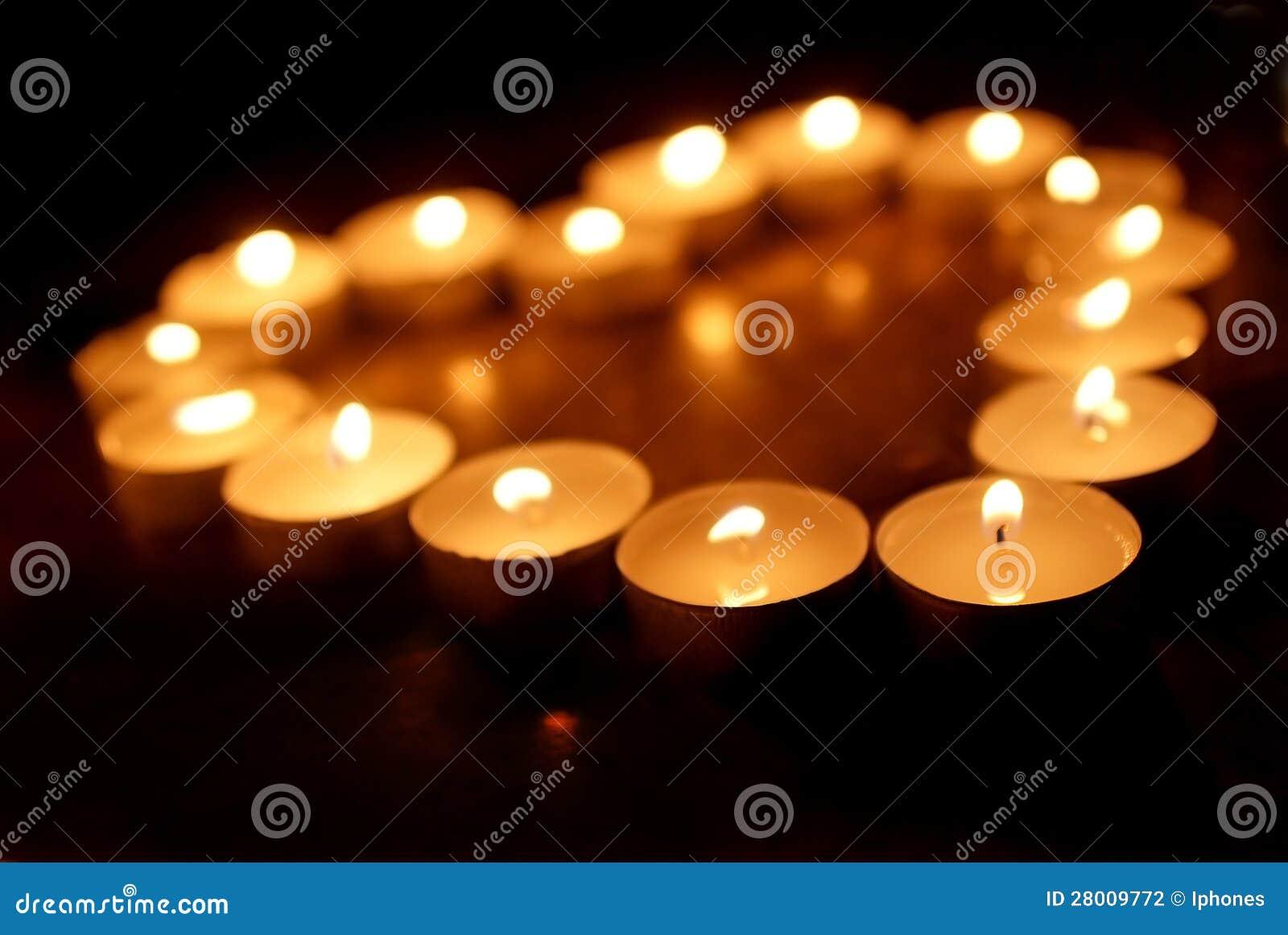 O Sepia tonificou velas dos termas na condição de luminosidade reduzida