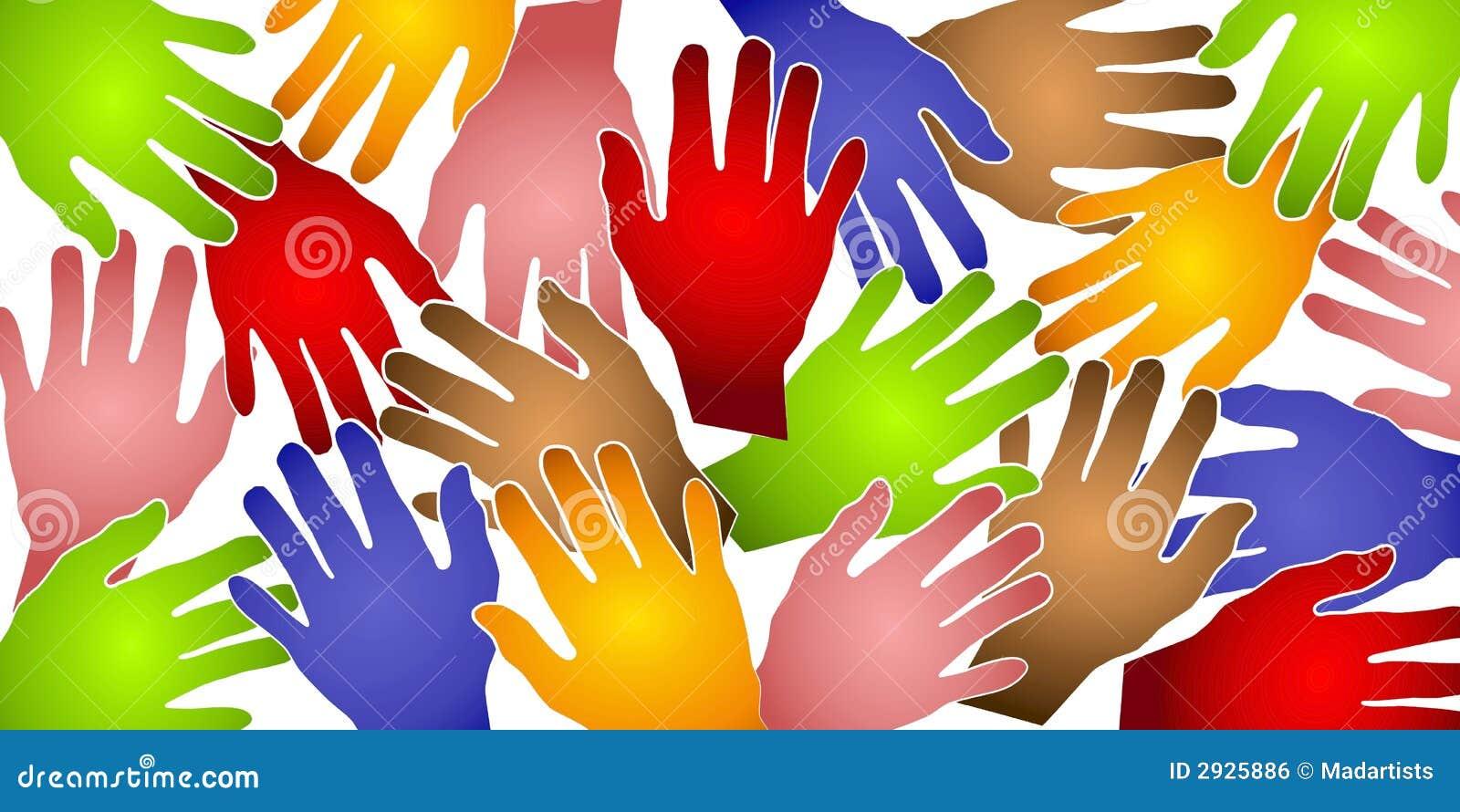 O ser humano entrega o teste padrão colorido