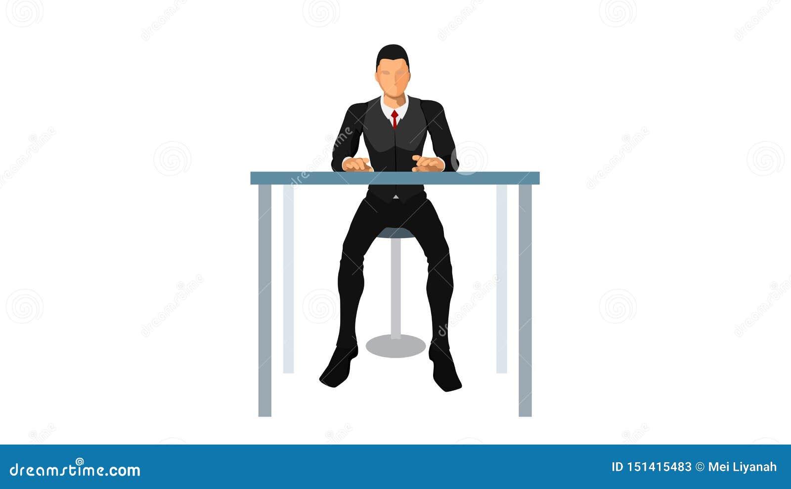 O serviço ao cliente senta-se apenas
