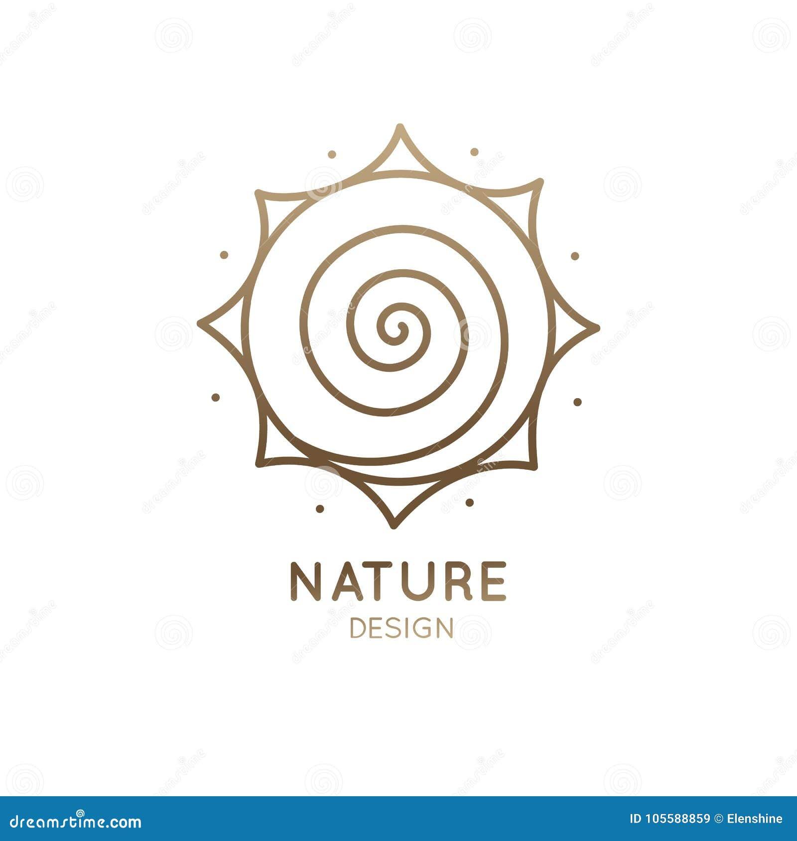 O sol do logotipo é espiral