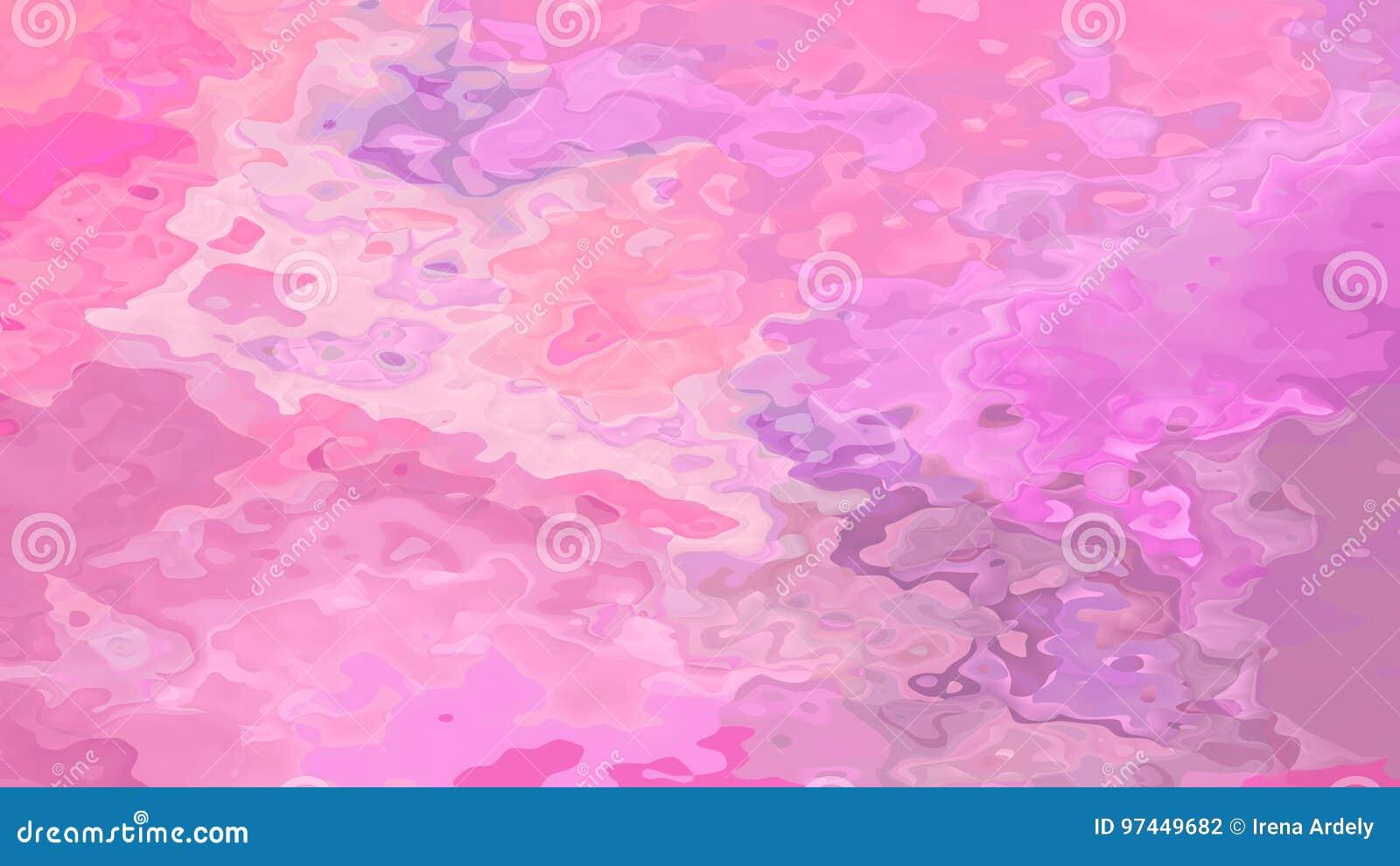 O sumário manchou cores doces do rosa de bebê do fundo sem emenda do teste padrão com esboços pretos - arte moderna da pintura -