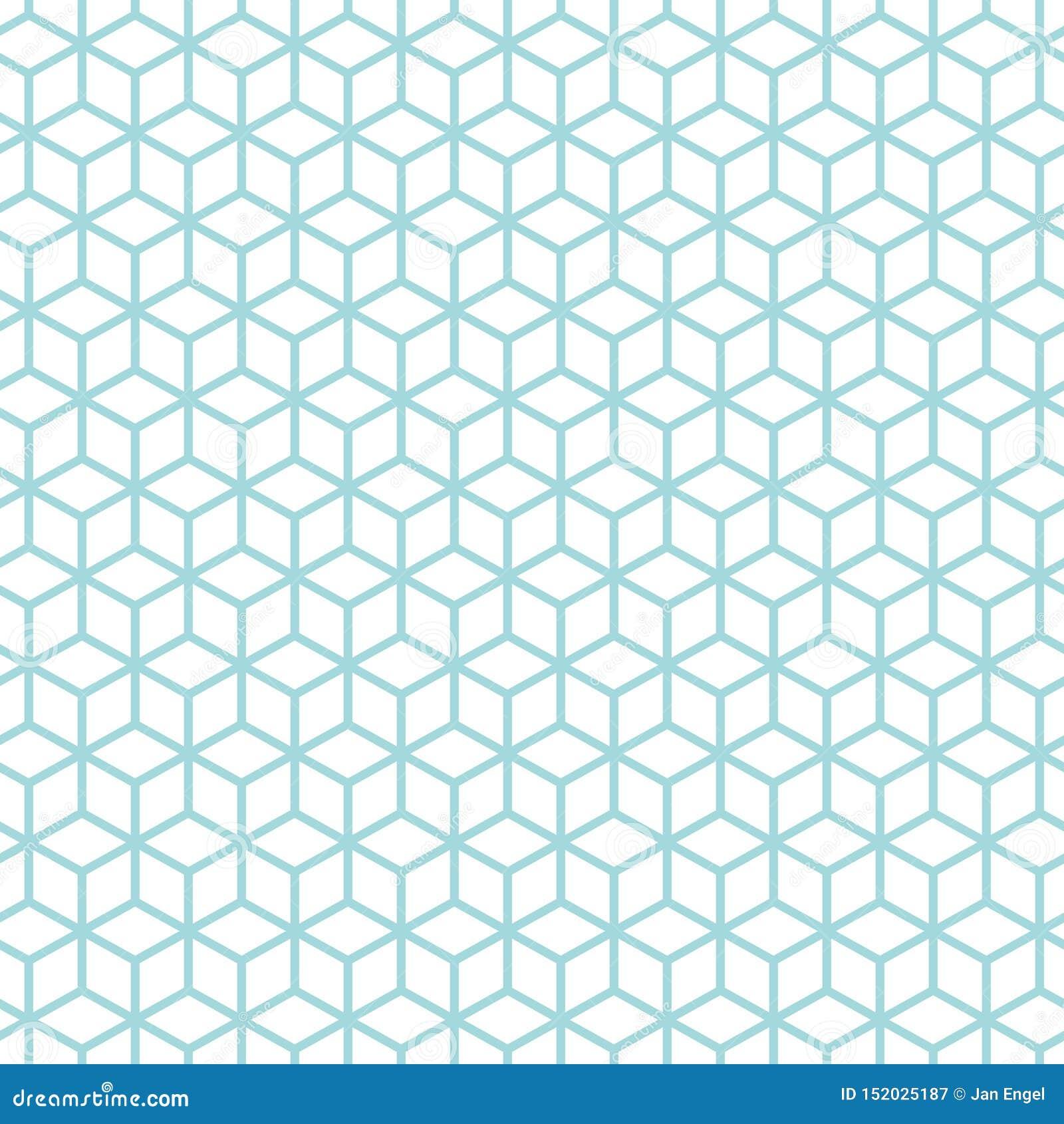 O sumário sem emenda do teste padrão cuba azul e branco