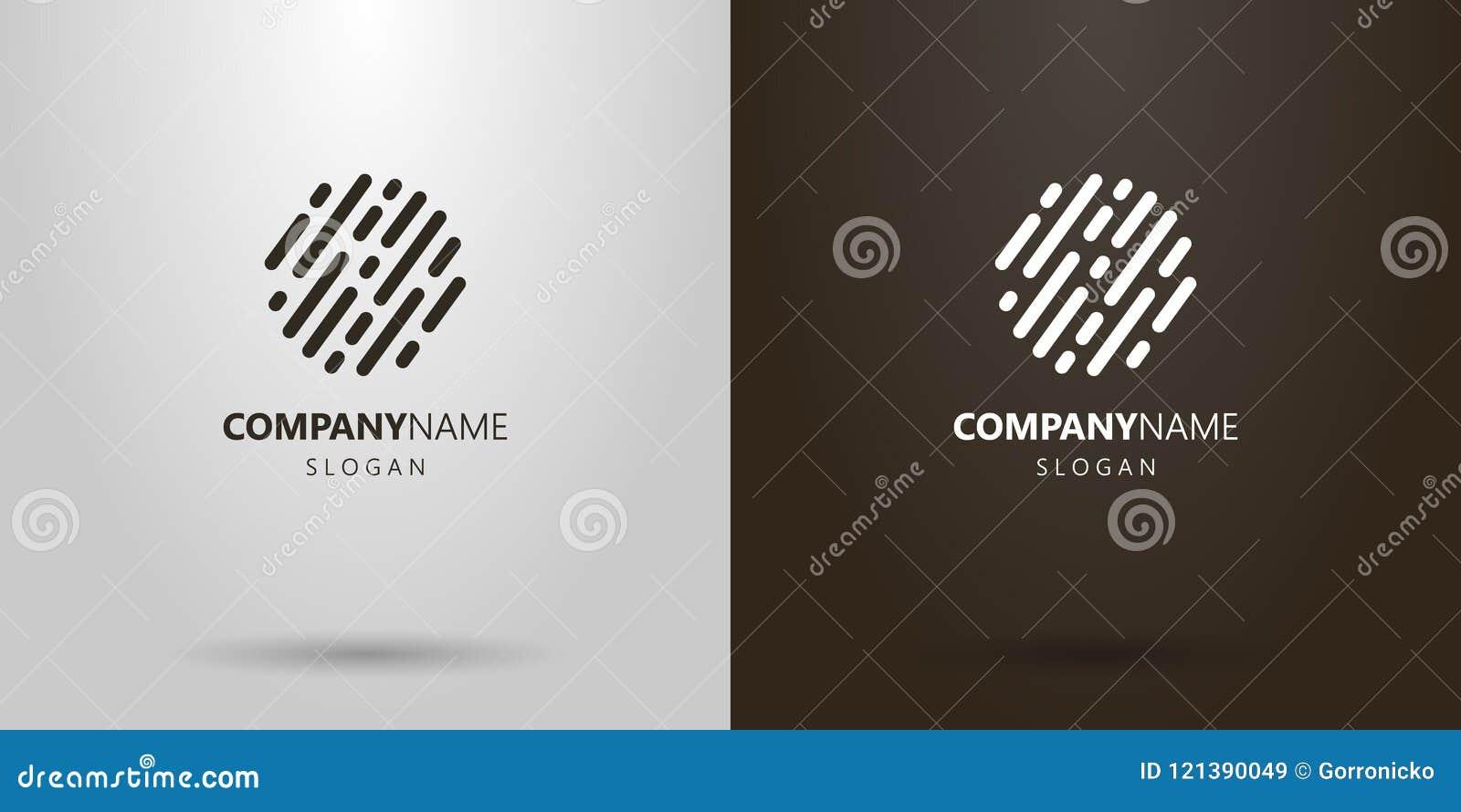 O sumário simples do vetor arredondado alinha o logotipo