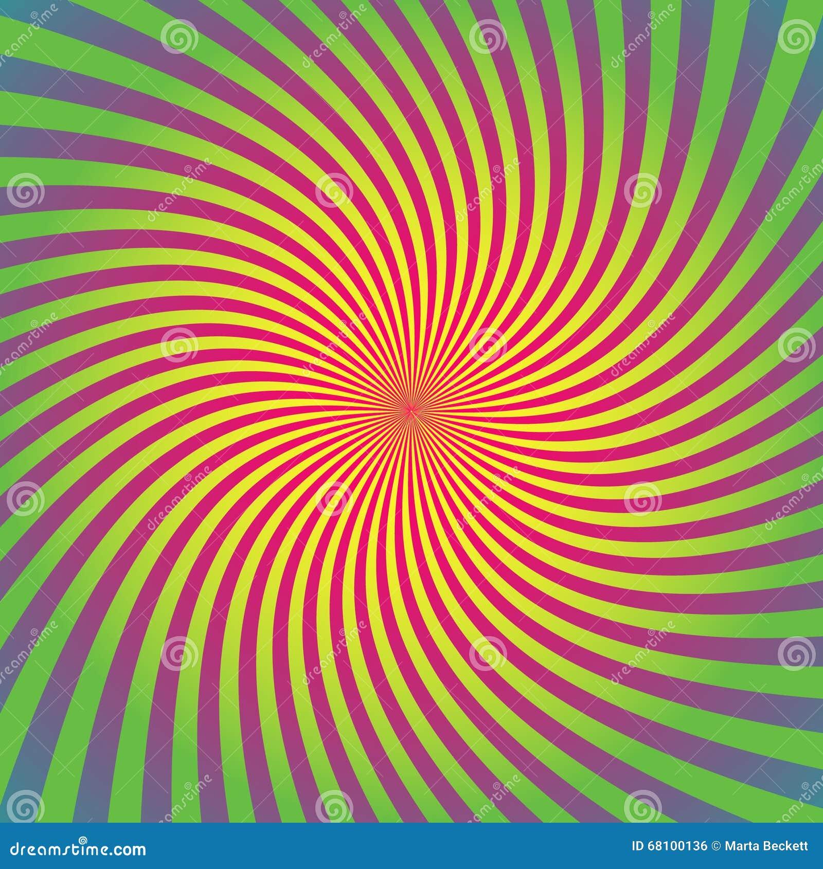 O Sunburst, grupo do fundo do starburst, raios coloridos, feixes, coloriu a urdidura, torção, giro