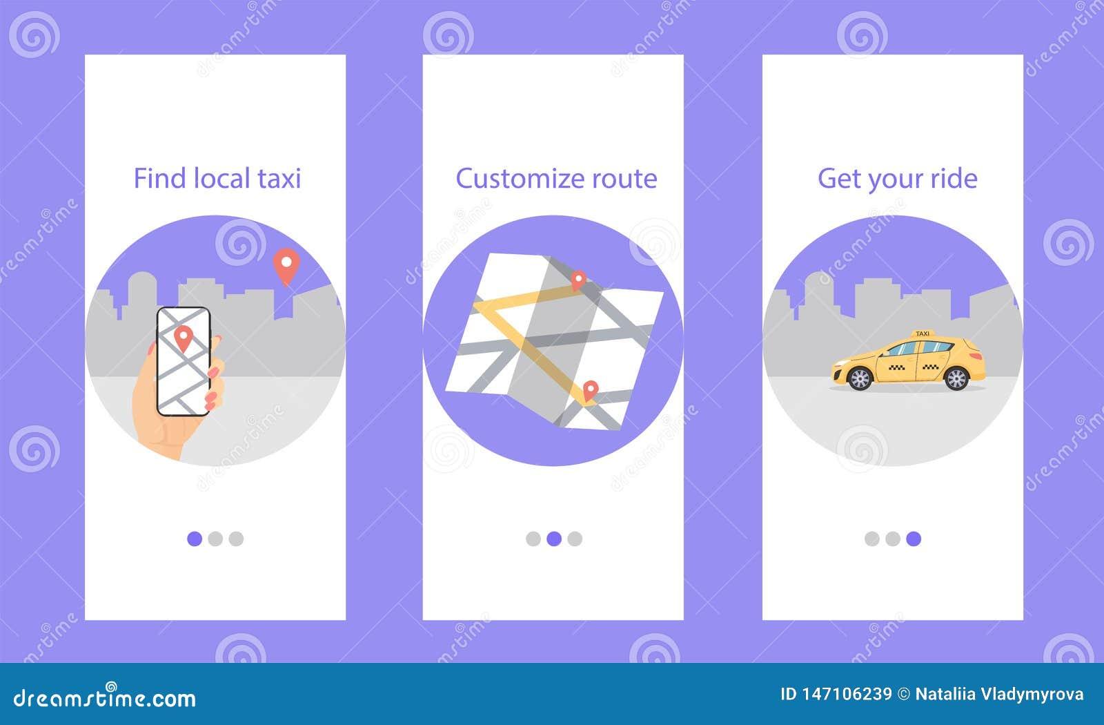 O táxi de Onboarding, encontra local, personaliza a rota, obtém seu passeio