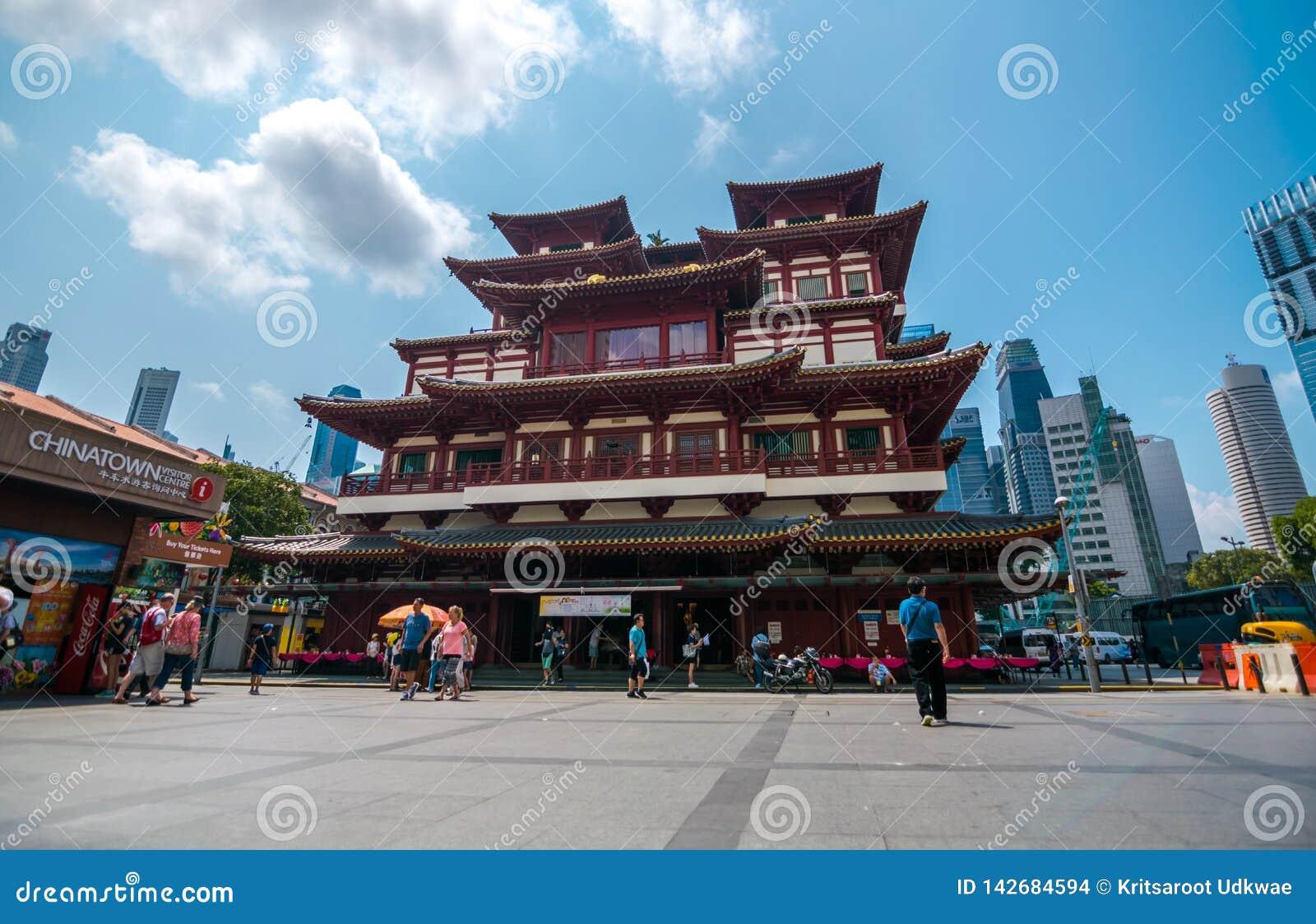 O templo da relíquia do dente de Buddha