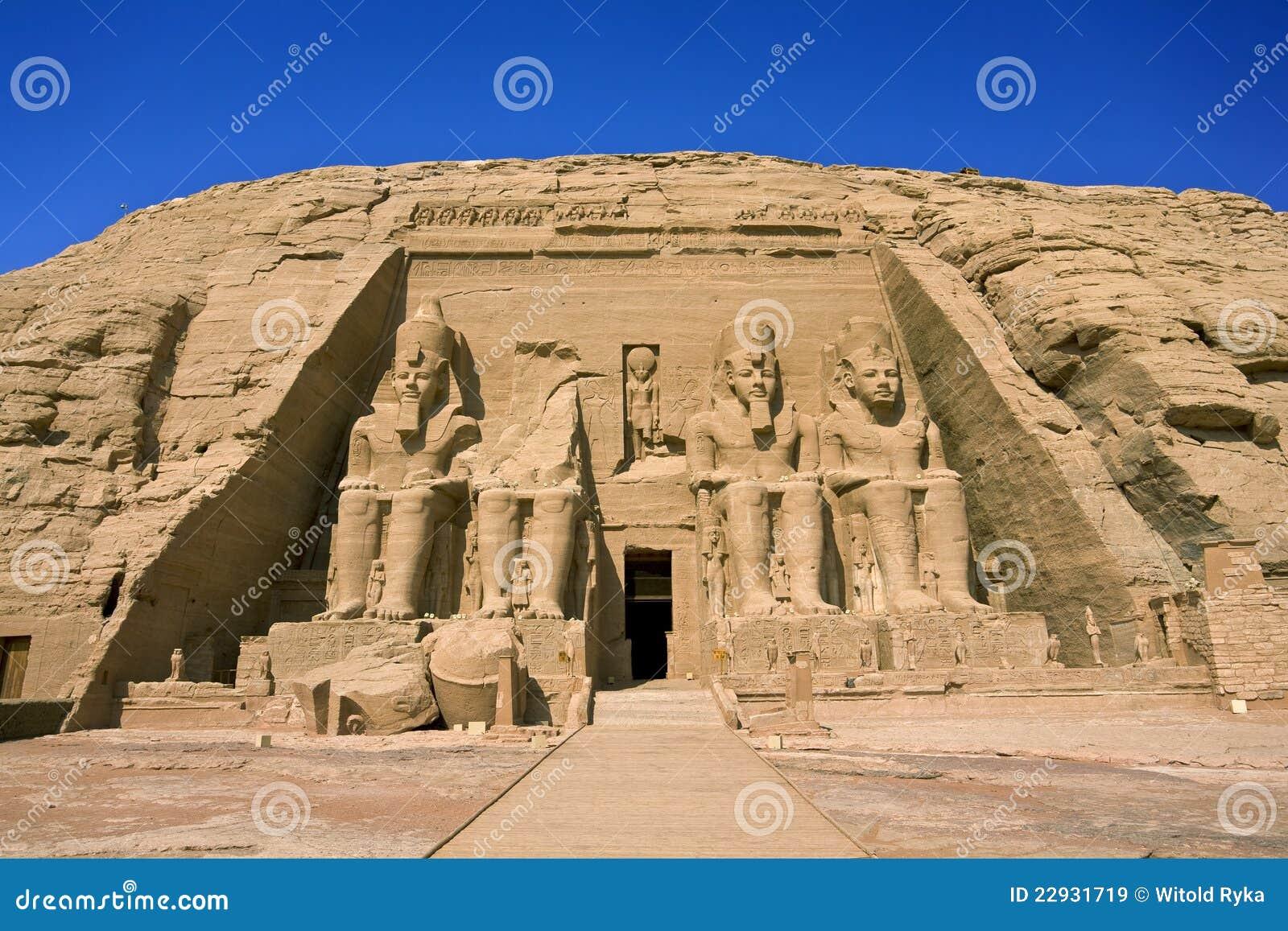 O templo de Rameses II em Abu Simbel
