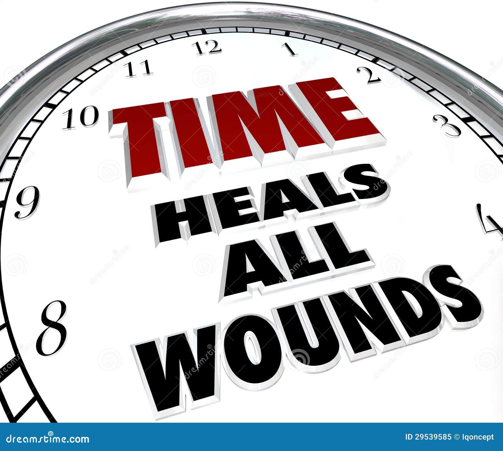 O tempo cura todo o dizer do pulso de disparo das feridas - remissão das disputas