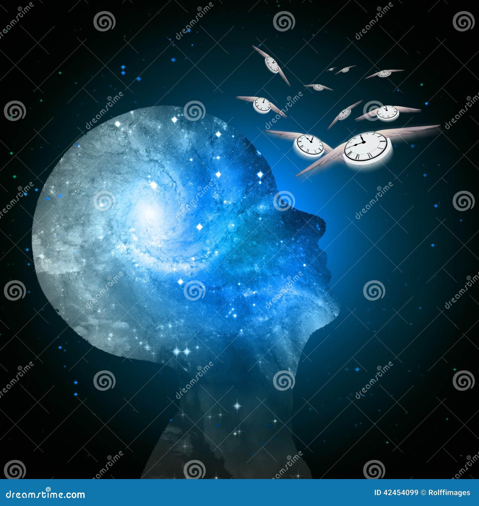 O tempo da mente da galáxia voa