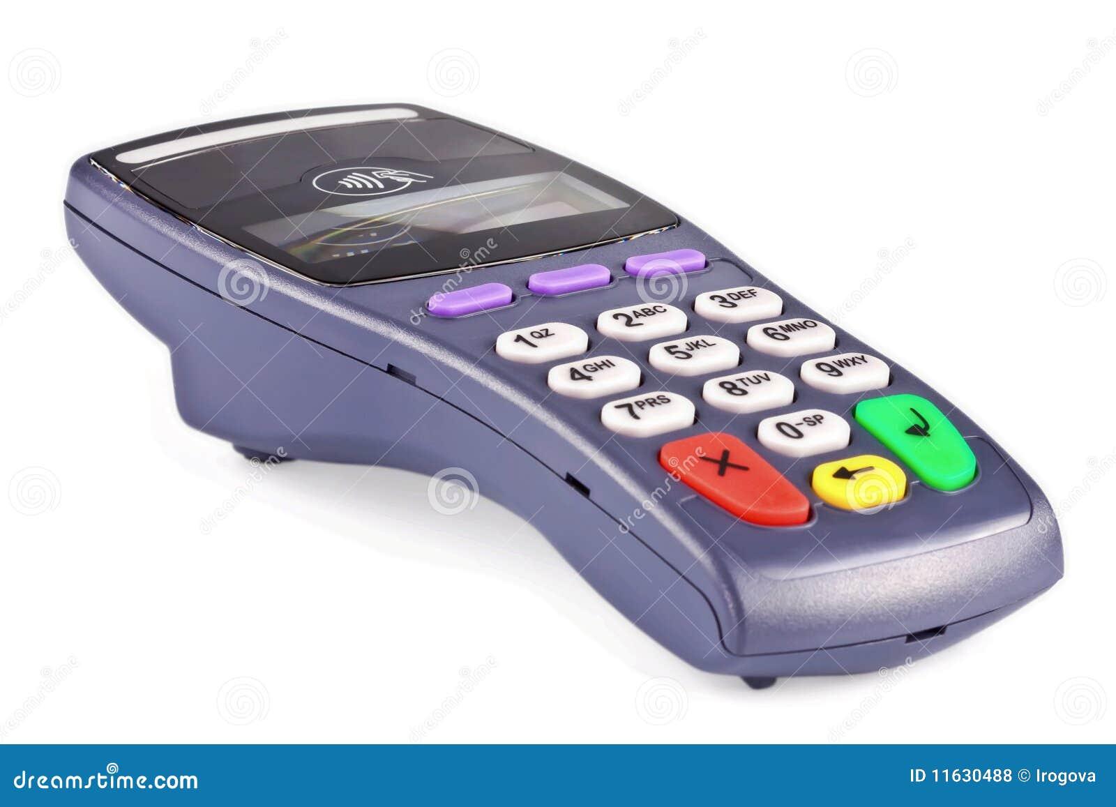 O terminal do pagamento sem contacto