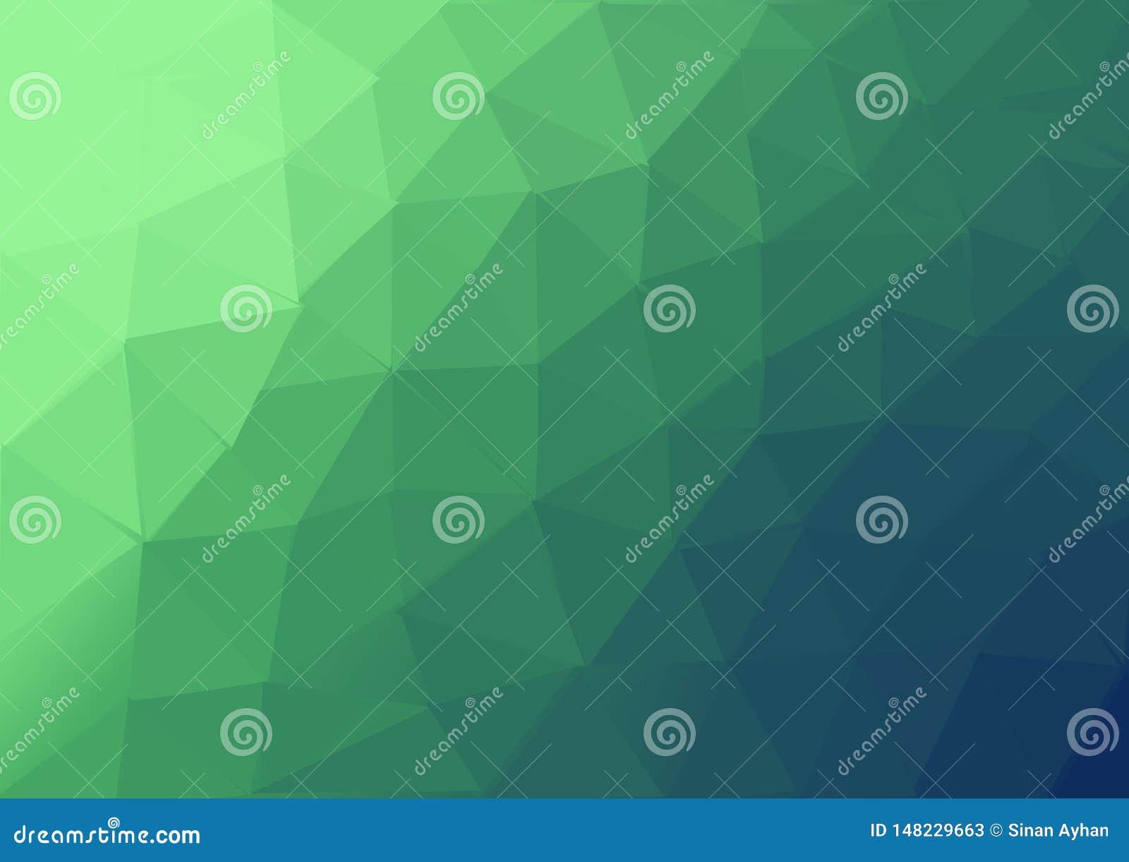 O teste padrão colorido verde do backgroun do triangel