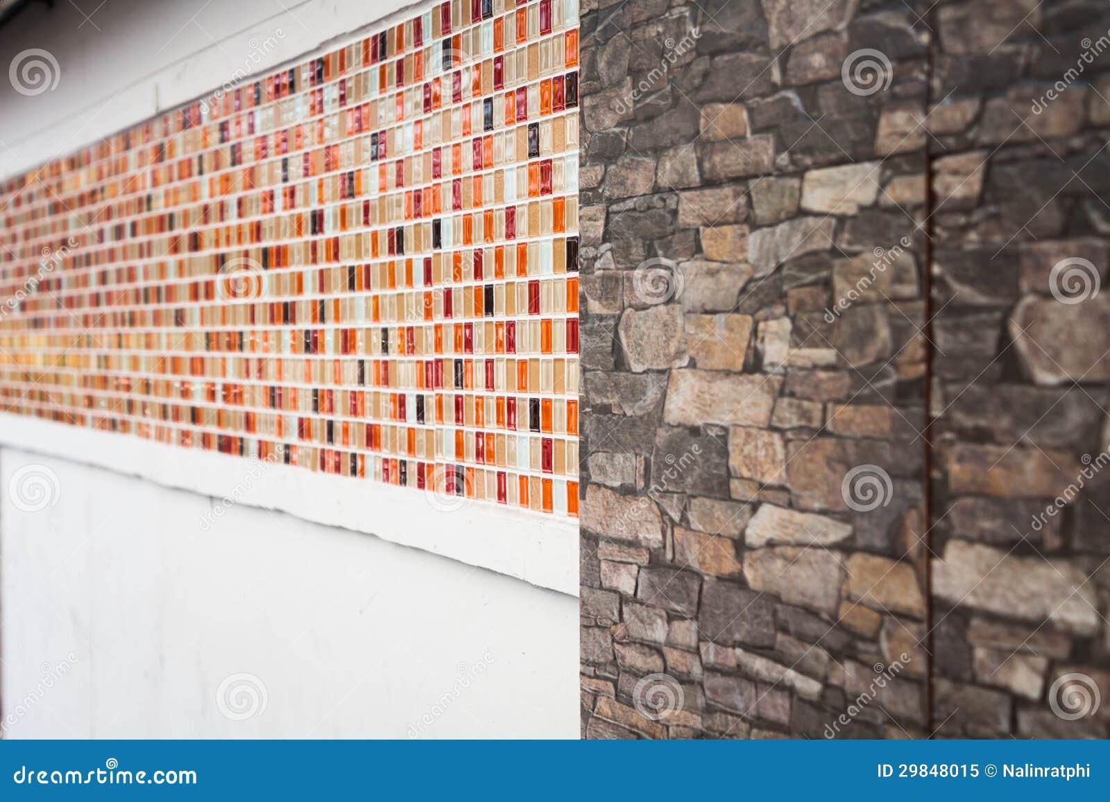 Teste padrão da parede do mosaico e do granito