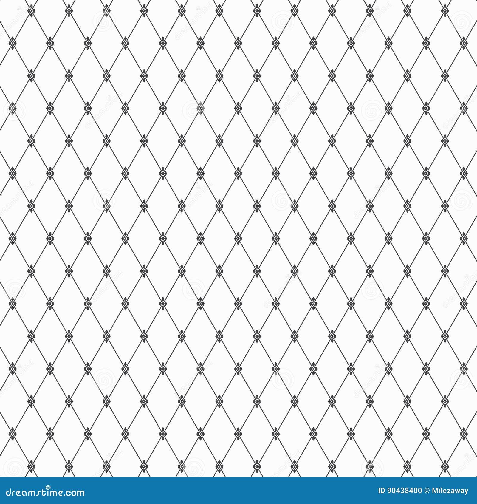 O teste padrão geométrico da forma linear do diamante decora com teste padrão de flor abstrato Fundo à moda abstrato
